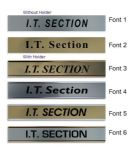 I.T. Section  Door Nameplate | slide in or fixed room sign